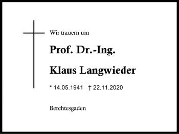Klaus Langwieder