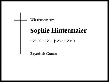 Sophie Hintermaier