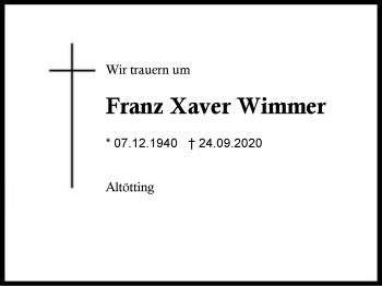 Franz XaverWimmer