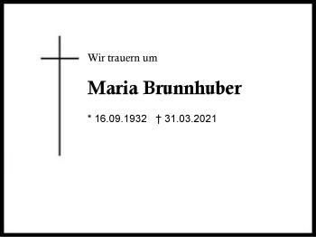 Maria Brunnhuber