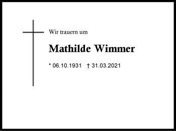 Mathilde Wimmer